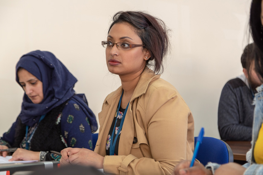 Female Birmingham Student in lecture