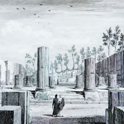 Illustration of Greek ruins