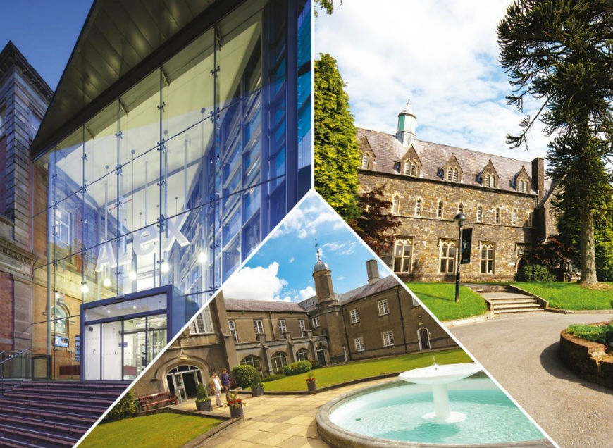 montage images of UWTSD Swansea, Lampeter and Carmarthen
